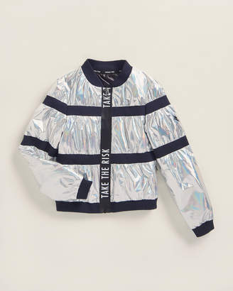 Patrizia Pepe Girls 7-16) Reflective Panel Bomber Jacket
