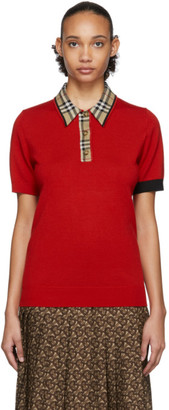 Burberry Red Penk Polo