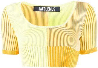 Jacquemus La Maille Yauco knitted top