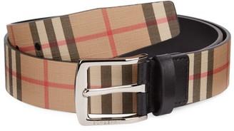 Burberry London Check Leather Belt