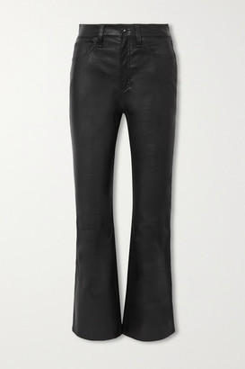 Rag & Bone Hana Cropped Straight-leg Leather Pants - Black