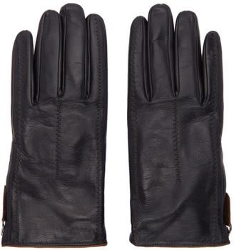 Giorgio Armani Black Leather Gloves