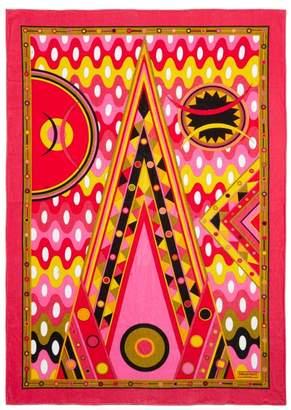 Emilio Pucci Vivara-print Cotton-terry Beach Towel - Womens - Pink Multi