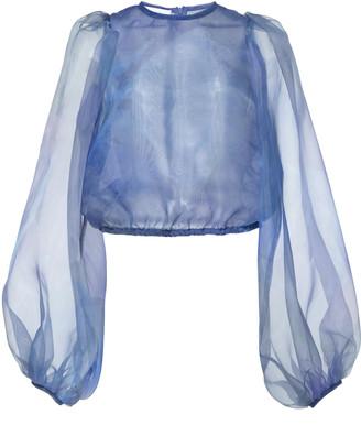 Beaufille Nebula Semi Sheer Tulle Blouse