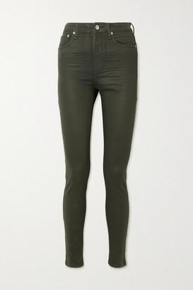 Rag & Bone Nina Coated High-rise Skinny Jeans - Green