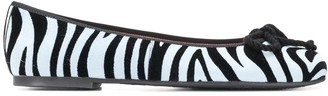 Pretty Ballerinas Zebra Print Ballerina Shoes