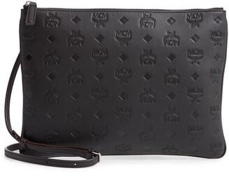 MCM Klara Monogram Calfskin Leather Crossbody Pouch