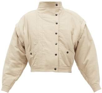 Etoile Isabel Marant Boston Cotton-blend Bomber Jacket - Womens - Khaki