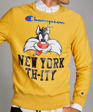 Looney Tunes Todd Snyder + Champion Champion + New York Th-ity Reverse Weave Crew in Warm Gold