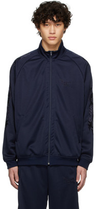 Chaos Doublet Navy Embroidery Track Jacket