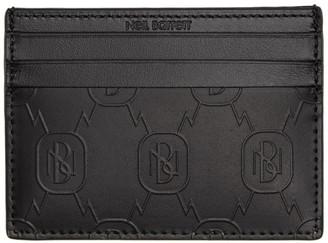 Neil Barrett Black Monogram Cardholder