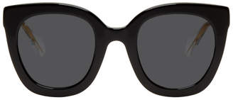 Gucci Black and Grey Square Sunglasses