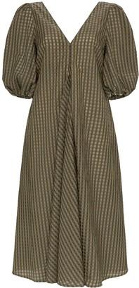 Ganni Checked Midi Dress