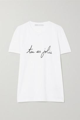 Parfums International Carine Roitfeld Parfums - International Womens Day Printed Cotton-jersey T-shirt - Colorless