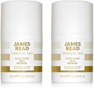 JAMES READ Retinol Tanning Face Mask Duo