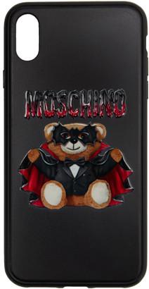 Moschino Black Bat Teddy Bear iPhone X Case