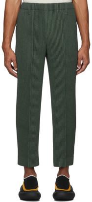 Issey Miyake Homme Plisse Khaki Light Pleated Trousers