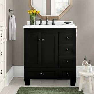 "Three Posts Lauder 30"" Single Bathroom Vanity Set Base Finish: Espresso"