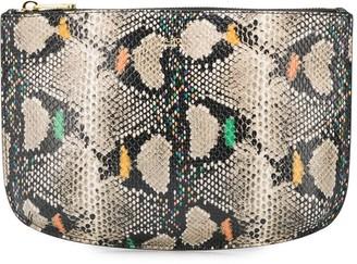 A.P.C. Sarah snakeskin-effect clutch bag