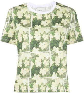 3.1 Phillip Lim daisy print cotton T-shirt