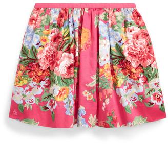 Ralph Lauren Floral Cotton Sateen Skirt