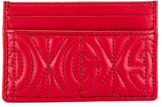 Gucci Card Holder in Hibis Red | FWRD