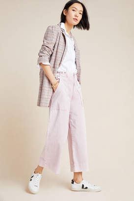 Anthropologie Carey Cropped Wide-Leg Utility Pants