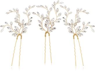 Swarovski Brides & Hairpins Fawn Set of 3 Crystal Hair Pins