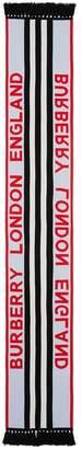 Burberry logo and icon stripe cashmere jacquard scarf