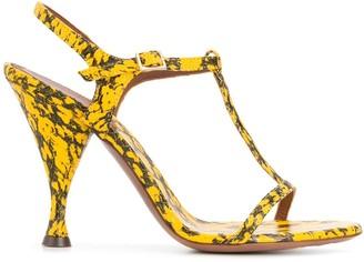L'Autre Chose Snakeskin Print Sandals