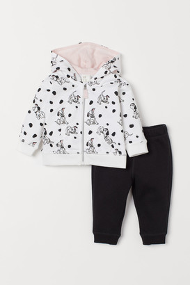 H&M Hooded Jacket and Joggers - White