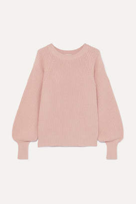 MICHAEL Michael Kors Ribbed Knitted Sweater - Antique rose