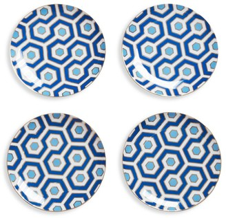 Jonathan Adler Newport Set Of 4 Canape Porcelain Plates