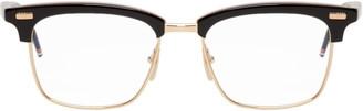 Thom Browne Black and Gold TB-711 Glasses