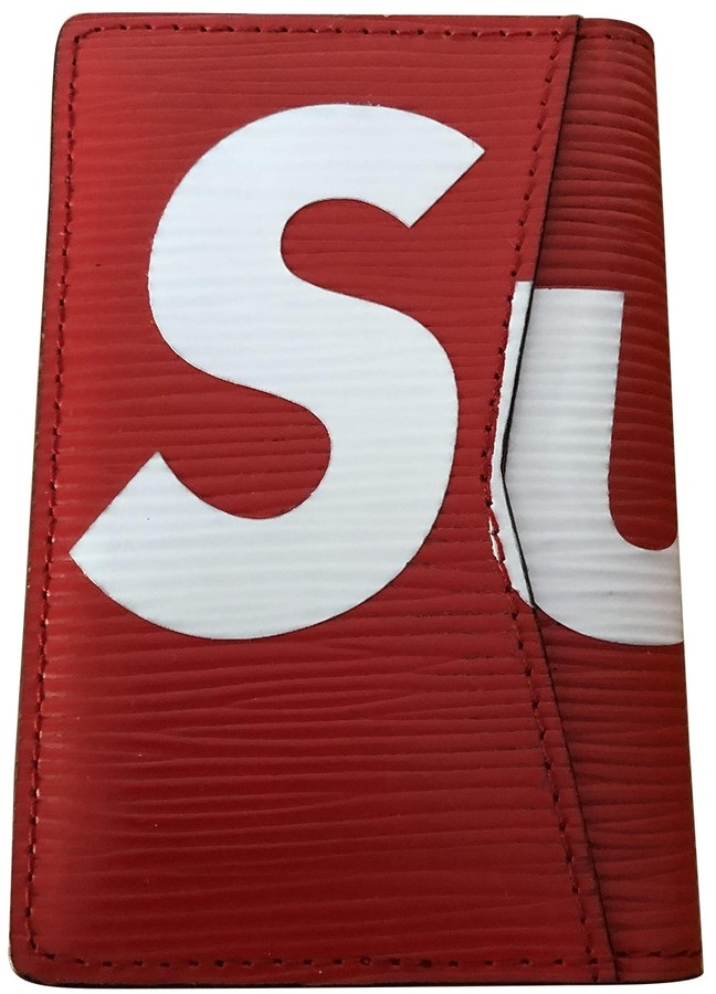 Louis Vuitton X Supreme Red Leather Small bags, wallets & cases