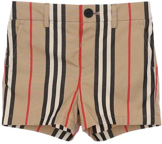 Burberry Icon Striped Cotton Shorts