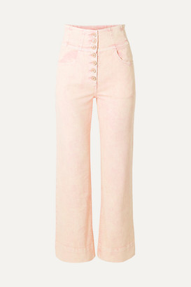 Ulla Johnson Ellis High-rise Straight-leg Jeans - Baby pink
