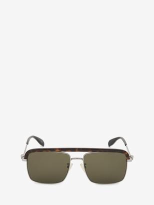 Alexander McQueen Metal Skull Square Sunglasses