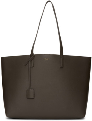Saint Laurent Grey East/West Shopping Tote