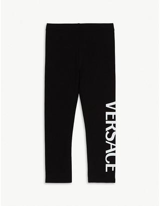 Versace Logo cotton-blend leggings 4-14 years