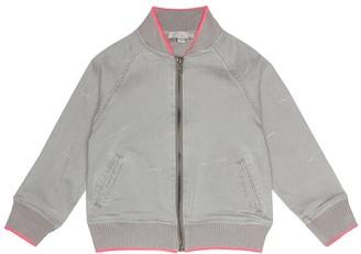 Stella McCartney Cotton-blend denim bomber jacket