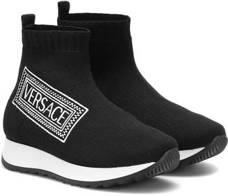 Versace Kids Knitted sock sneakers