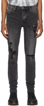 Ksubi Black Van Winkle Rat Angst Trashed Jeans