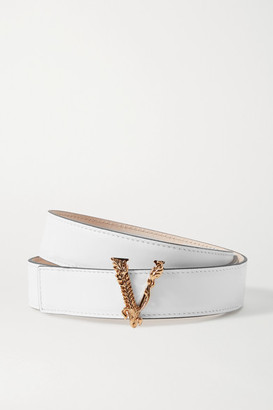 Versace Leather Belt - White