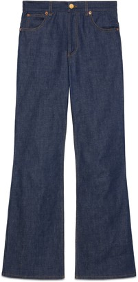 Gucci Washed denim flare pant