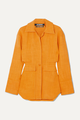 Jacquemus Monceau Woven Shirt - Orange