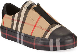 Burberry Mini Markham Elastic Vamp Check Sneakers, Toddler/Kids
