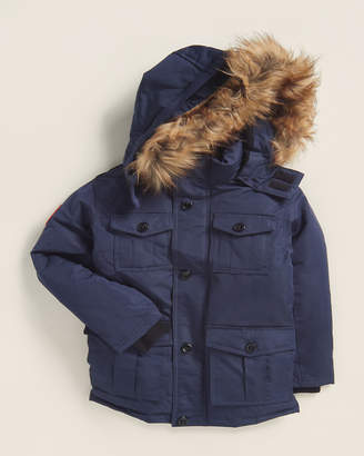 Canada Weather Gear Boys 4-7) Navy Faux Fur-Trimmed Pocketed Parka