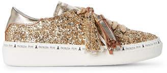 Patrizia Pepe Toddler/Kids Girls) Gold Tassel Glitter Low-Top Sneakers