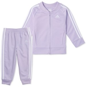 adidas Little Girls 2-Pc. Tricot Jacket & Jogger Pants Track Set